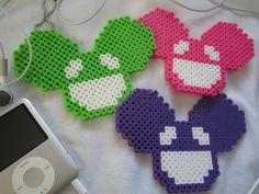 Deadmau5 Mouse Perler Keychain 2 by colbyjackchz.deviantart.com on @deviantART