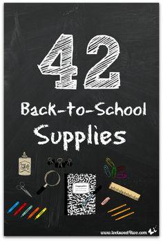 42 Back-to-School Su