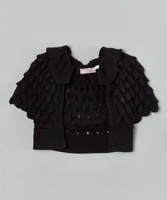 Love this Black Capelet - Kids by Sweet Charlotte on #zulily! #zulilyfinds