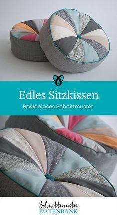 Sitzkissen rundes Kissen nähen kostenlose Nähanleitung gratis Schnittmuster Ideen für Zuhause