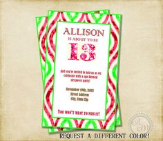 Girl Birthday Party Invitation Purple & by AshleyMartinDesigns