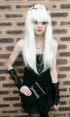 Amane Misa from DEATH NOTE teen Cosplay Halloween comic con dress up party costume | plus Simple make-up tricks to get huge Anime eyes #cosplay #halloween #halloweencostume #diycostume #makeuptutorial