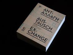 Ανταλλαγή / Austausch / Exchange by Bend , via Behance