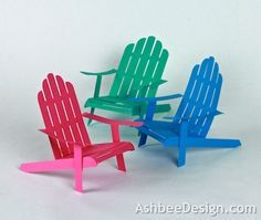 Ashbee Design Silhouette Projects: 3D Adirondack Chair Silhouette Tutorial
