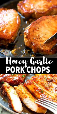 Cheesy Recipes, Mexican Food Recipes, Irish Recipes, Honey Garlic Pork Chops, Crock Pot Pork Chops, Honey Garlic Sauce, Honey Garlic Chicken, Crockpot Boneless Pork Chops, Italian Recipes
