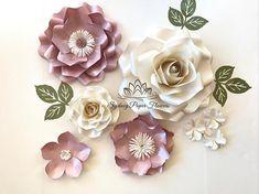 PLUM Love Paper flower mini backdrop/Paper flower wall/Wedding