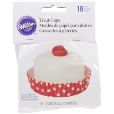 Wilton 415-1974 18-Pack Treat Cups, Red/White * Quickly view this special product, click the image : Baking Accessories