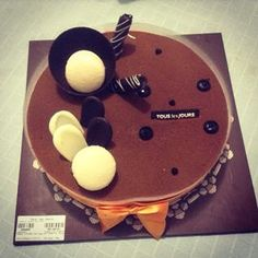 Food Adventure!  Thank you Brother Bear.  Chocolate Cake!  #happybirthday #sweetsurprise #touslesjours