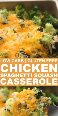 Chicken Spaghetti Squash Casserole is a creamy and cheesy low carb casserole that takes only 10 minutes of prep time and 25 minutes of bake time. You can add your choice of low carb vegetables. Each serving only has net carbs. Low Carb Recipes, Diet Recipes, Cooking Recipes, Healthy Recipes, Soup Recipes, Recipies, Spaghetti Squash Casserole, Chicken Spaghetti Squash, Recipes With Spaghetti Squash