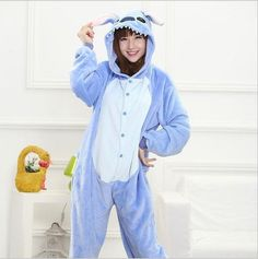 Hot Unisex Adult Flannel Pajamas Cosplay Cute Cartoon Animal Winter Pyjama Christmas Halloween Pajama Pyjama Sets Pikachu Panda