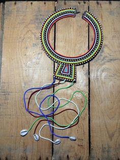Handmade Small Maasai Tribal Necklace from Tanzania. by NDN2SPIRIT