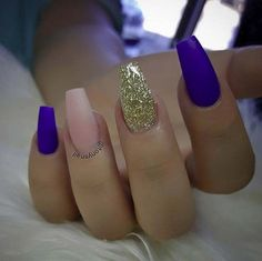 Nail Art Ideas For Coffin Nails - Blue Nude and Gold - Easy, Step-By-Step Design For Coffin Nails, Including Grey, Matte Black, And Great Bling For Instagram Ideas. Includes Everything From Kylie Jenner Ideas To Nailart For Short Nails, Long Nails, And Beautiful Shape And Colour Like Pink. Polish For Jade, Glitter, And Even Negative Space - https://www.thegoddess.com/nail-ideas-coffin-nails