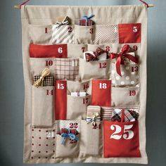 Kids' Holiday Decor: Christmas Advent Calendar in Calendars.I officially cannot ever forget our Advent Calendar now that it is being shipped! Homemade Advent Calendars, Diy Advent Calendar, Countdown Calendar, Calendar Ideas, Event Calendar, Christmas Countdown, Christmas Calendar, Christmas Projects, Christmas Crafts