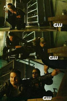Arrow - Felicity & Oliver #2.19 #Season2 #Olicity  Awww!! Look at him being protective over his girl