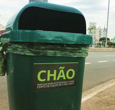 Será que assim o lixo vai parar no lugar certo?