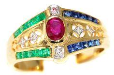 Unique Diamond Jewelry 18K Yellow Gold Multi Gemstone Rin... https://www.amazon.com/dp/B00CHJJWCY/ref=cm_sw_r_pi_dp_AeODxbBRDQ2PE