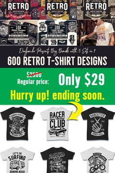 You can create unique t-shirt designs, stickers, badges, posters, invitations or logo designs with various styles. USE COUPON CODE AT CHECK OUT: RRT15 T Shirt Design Template, Unique T Shirt Design, Badges, Funny Tshirts, Retro Fashion, Coupon, Shirt Designs, Logo Design, Posters
