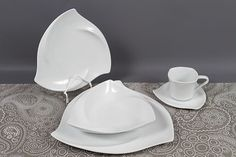 """DINNER SET BALANCE 30PCS SERVICE FOR 6 PERSON WHITE PORCELAIN CROCKERY NEW 