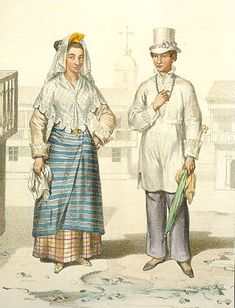 Filipino Cultured: Filipino fashion during Spanish colonial period: Part 3 Philippines Outfit, Philippines Culture, Philippines Fashion, Filipino Art, Filipino Culture, Manila, Barong Tagalog, Filipino Fashion, Philippine Art