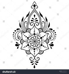 Mehndi flower pattern for Henna drawing and tattoo. Decoration in ethnic oriental, Indian style. Mehndi flower pattern for Henna drawing and tattoo. Decoration in ethnic oriental, Indian style. Paisley Tattoo Design, All Mehndi Design, Paisley Tattoos, Beautiful Henna Designs, Henna Tattoo Designs, Mehndi Designs, Geometric Tattoos, Henna Patterns Hand, Simple Henna Patterns