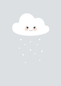 Children's poster with clouds | Posters for children and Children's rooms | Desenio