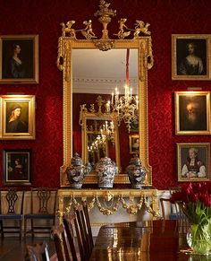 The Great Room, Althorp, Northamptonshire, England   ~ Althorp is a country estate of about 14,000 acres (60 square km) and a Grade I listed stately home.   It is the official residence of The Earl and Countess Spencer. It was the home of Diana, Princess of Wales before her marriage to Charles, Prince of Wales.