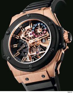 Hublot Gold King Power Tourbillon GMT Watch