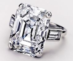 Grace Kelly's 10.47ct Emerald Cut Engagement Ring  from Prince Rainier III of Monaco