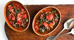 Turkish Spinach with Tomatoes and Rice