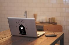 Beauty and the Beast Rose Macbook Sticker by TheNewHobbyist