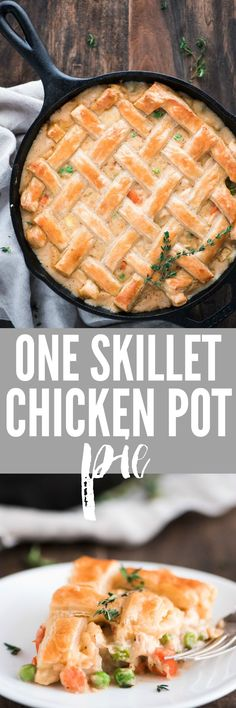 One Skillet Chicken Pot Pie is a comforting family favorite classic made easy by using only one skillet and topping with a delicious flaky puff pastry.
