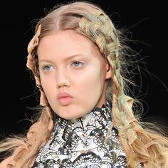 Basket Weave braids on the runway.