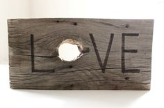Shabby Chic wedding sign LOVE wood sign rustic wedding sign rustic wedding gift decorations reclaimed wood wedding gift reclaimed wood. $35.00, via Etsy.
