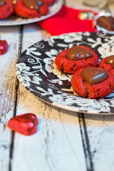 Red Velvet Peanut Butter Cup Blossoms for a Valentine's Day treat from The Girl In The Little Red Kitchen