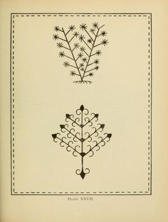 An embroidery pattern bookPlate XXVII