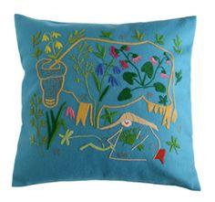 """""""Kesälaitumella"""" = Summer Pasture pillow"""