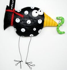 BirD NaMed AmicA HolDing worM ...CLassic BuTT UgLee ... WhiMsicaL WaLL ArT .. Black and WhitE polka dotS ... LimE GrEEn Worm