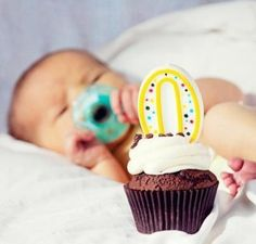Have someone bring a zero cupcake to the hospital the day your baby is born :)
