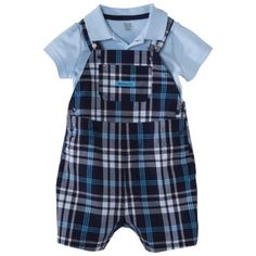 JUST ONE YOU Made by Carters Infant Boys Shortall Set - BlueNavy $13