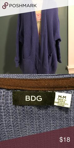 BDG Purple Cardigan A classic Urban Outfitters brand collides with ultimate style. This sweater is SO comfy and perfect for lounging and cozying up on cold winter days!! BDG Sweaters Cardigans