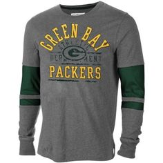 Green Bay Packers 2 Step Long Sleeve T-Shirt - Charcoal