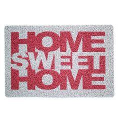 Capacho Home Sweet Home Cinza | Fábrica9
