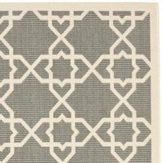 @Overstock - This eye-catching indoor/outdoor rug has a steel-grey background with a geometric beige overlay. Its durable polypropylene construction makes this rug highly resistant to mold, mildew, sun, and water, and perfect for indoor or outdoor use.http://www.overstock.com/Home-Garden/Poolside-Grey-Beige-Indoor-Outdoor-Rug-53-x-77/6551472/product.html?CID=214117 $101.99