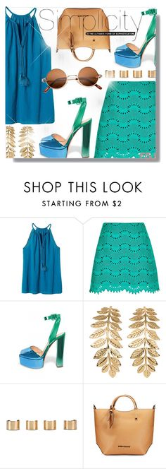 """""""Summer Night Out With FSJ"""" by jiabao-krohn ❤ liked on Polyvore featuring Banana Republic, River Island, H&M, Maison Margiela and fsjshoes"""