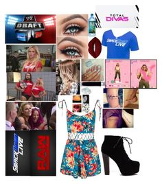 A fashion look from July 2017 featuring tie romper, laced up platform booties and bridal engagement rings. Browse and shop related looks. Wwe Outfits, Total Divas, Gothic Dress, Lime Crime, Kylie, Topshop, Wwe Stuff, Cosmetics, Day