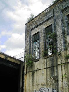 Derelict factory Townmead Road London - Since demolished