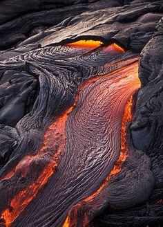 Lava flow by Adrian Warren - Mount Kilauea, Hawaii