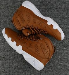 super popular 9875f 5fca7 Air Jordan 9 Shoes Woven super A brown Running shoes