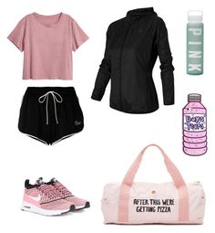 """Gym Class"" by alise113 on Polyvore featuring Off-White, H&M, NIKE, ban.do, New Balance and Victoria's Secret"