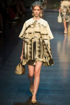 Dolce & Gabbana S/S 2014 modern #toiledejouy inspired by ancient greek culture influence in Sicily